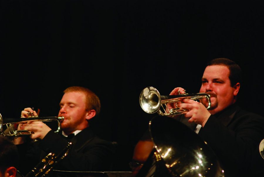 UNA seniors Russ McCollum (left) and Drew White (right) perform at the 2010 Big Band Blowout. This year's event will take place Feb. 6 at 2 p.m. in Norton.