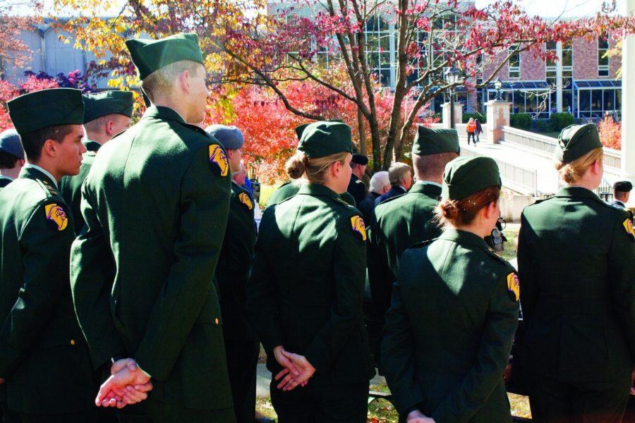 ROTC cadets gather at UNA Nov. 11, 2010.