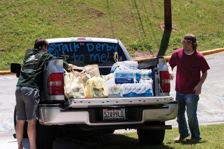 UNA's Sigma Chi delivers supplies April 29.