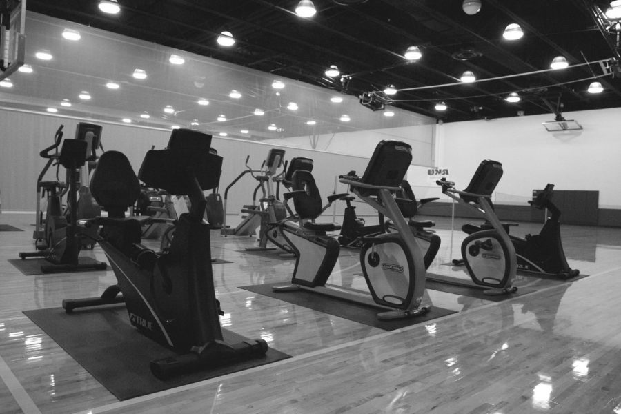 The Student Recreation Center offers treadmills and bicycles to students who are willing to get in shape and avoid that Freshmen 15.