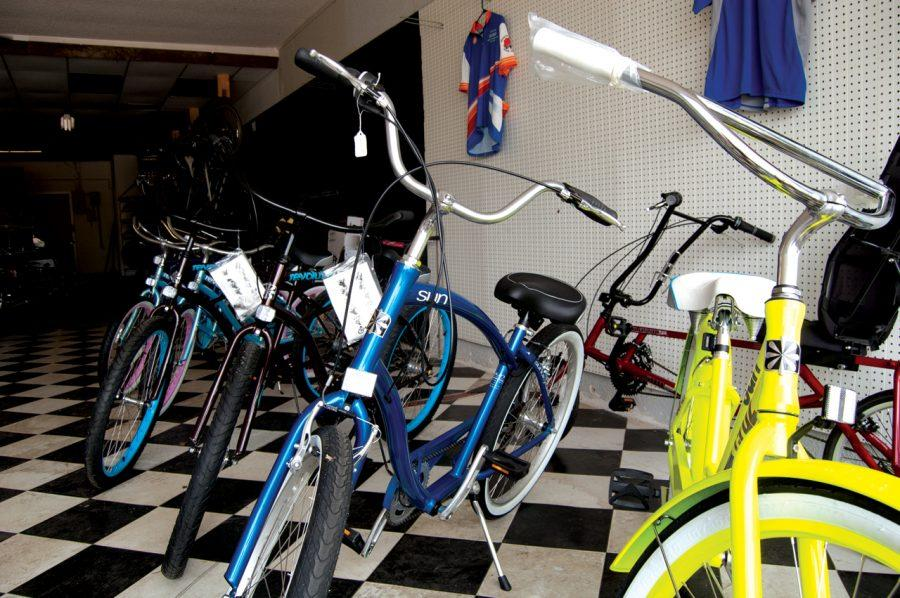 The Shoals Bicycle Shop offers a wide variety of bicycles, from old, refurbished bikes, to brand new ones.