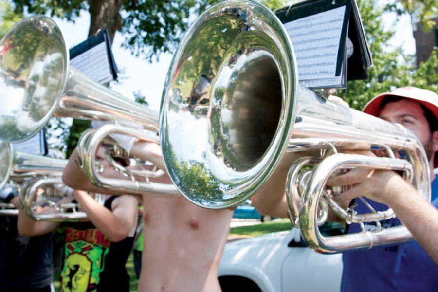 Pride of Dixie member Max Beech during band camp. The Pride of Dixie will be performing during the Big Deal Thursday night.