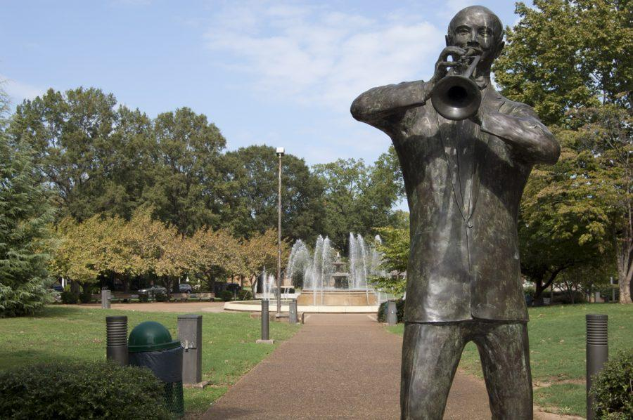 A+statue+of+W.C.+Handy+stands+at+an+entrance+to+Wilson+Park+in%0Adowntown+Florence.+Wilson+Park+is+one+of+the+areas+that+KTSB+tries%0Ato+maintain+to+keep+it+beautiful.%0A