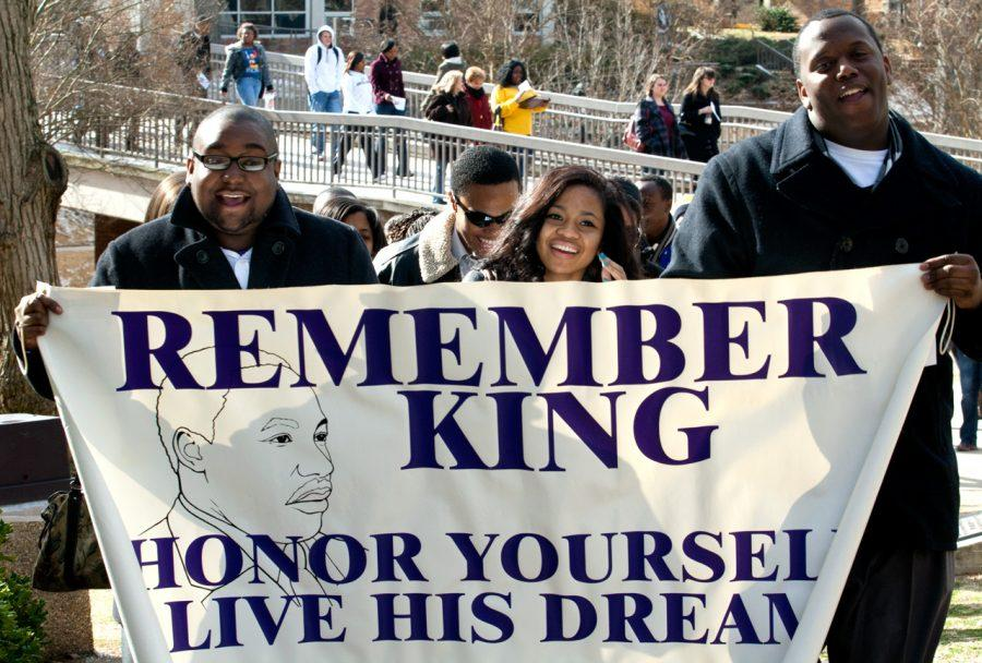Students+march+from+the+GUC+atrium+to+Baptist+Campus+Ministries%0AJan.+13+singing+%E2%80%9CWe+Shall+Overcome%E2%80%9D+after+the+Martin+Luther+King%2C%0AJr.+program.%0A