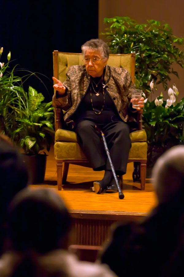 Civil Rights author Richie Jean Sherrod Jackson speaks to audience members in the GUC Feb. 6.