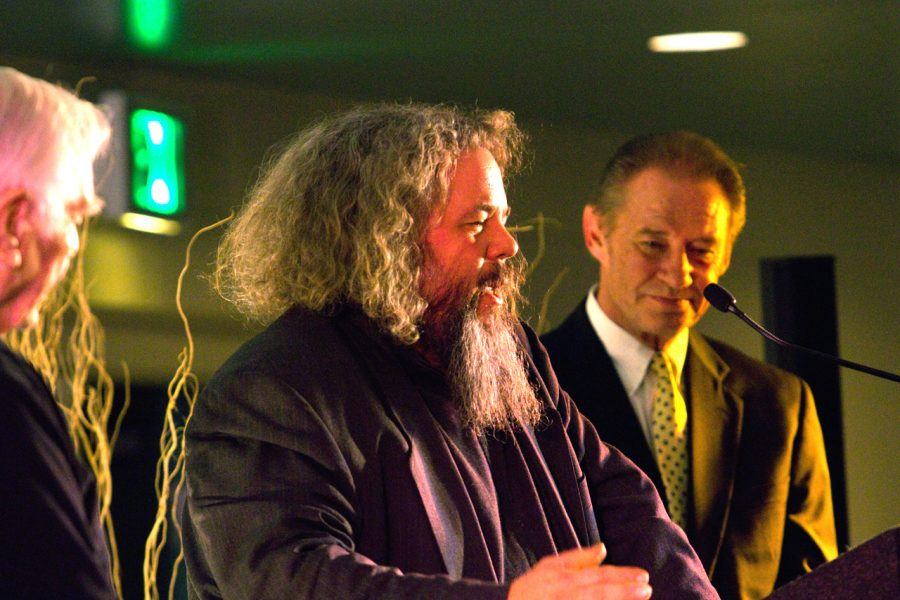 Actor+Mark+Boone+Jr.+accepts+the+jury+award+for+best+actor+at+the+2012+George+Lindsey+UNA+Film+Festival.+The+festival+brings+filmmakers+from+all+over+the+world+to+UNA+and+the+Shoals.%0A