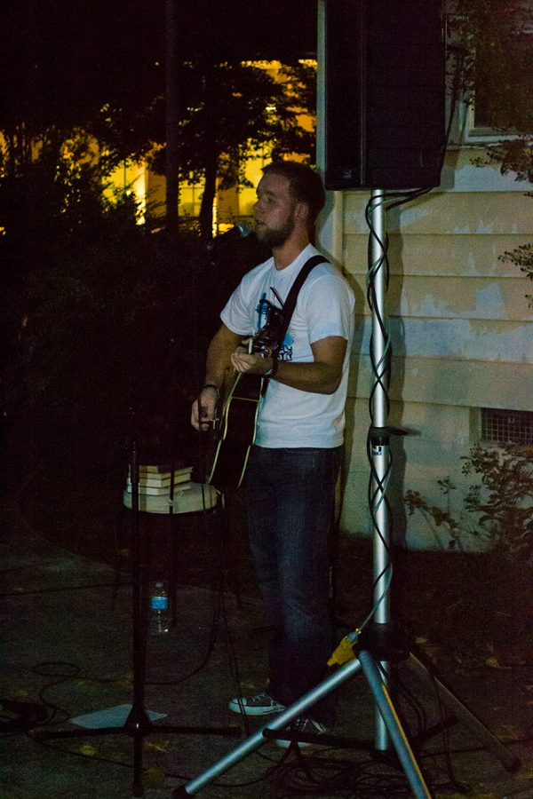Mason+Boutwell+performs+at+the+Oct.+22+Take+Back+the+Night+event.%0A
