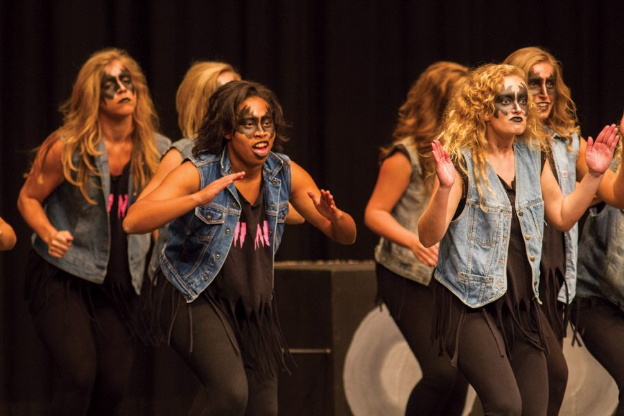 Phi+Mu+performs+at+the+2012+Step+Show%2C+%E2%80%9CUnited+We+Step.%E2%80%9D+Twelve+student+organizations+competed+and+performed+Oct.+26+to+raise+money+for+United+Way.+Phi+Mu+won+overall.%0A