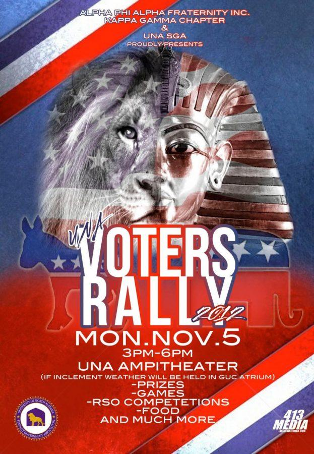 UNA+SGA+and+Alpha+Phi+Alpha+Fraternity%2C+Inc.+will+be+hosting+a+voter+rally+on+Monday%2C+Nov.+5%2C+from+3+p.m.+to+6+p.m.%2C+to+raise+awareness+about+voting.%0A