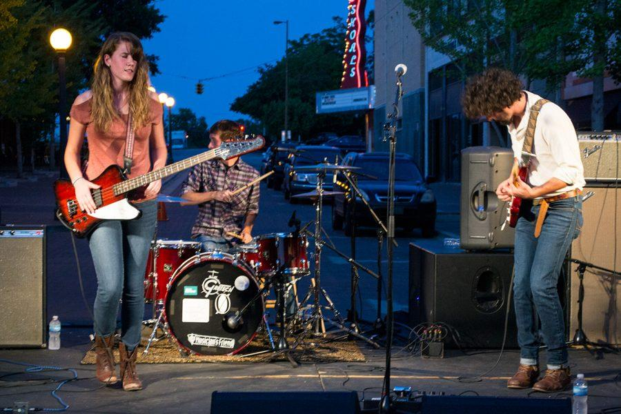 Local band SCM Electrix performs on Mobile Plaza in downtown Florence during last semester's Lion Night. Senate offi cials are finalizing details for upcoming Lion Nights to be held several times a year.