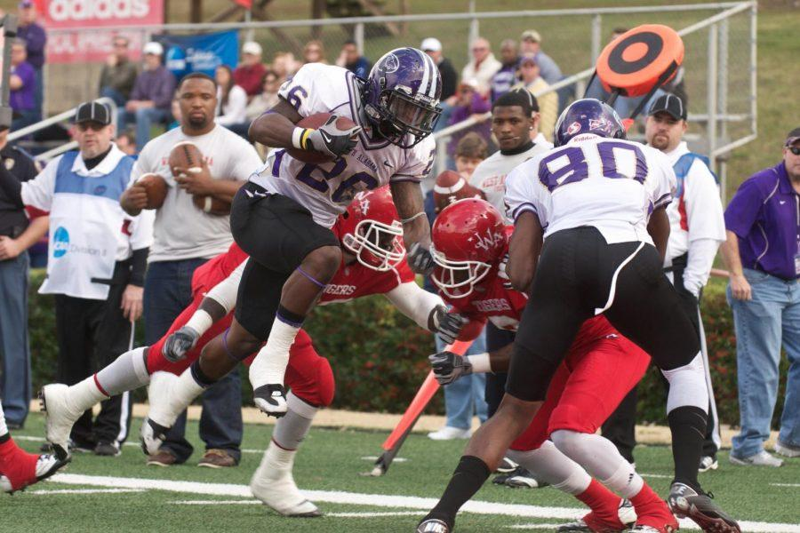 Chris Coffey runs the ball against the University of West Alabama in last year's matchup in Livingston, Ala. The game this year will be big in determining the GSC champion this year.