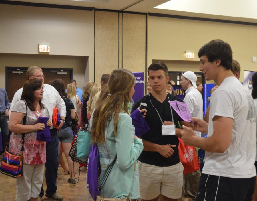 Students and parents browse the RSO fair at the June 5 SOAR session.