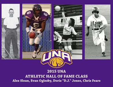 From+left%2C+Alex+Sloan%2C+Evan+Oglesby%2C+Doris+Jones+and+Chris+Fears+will+enter+the+UNA+Athletic+Hall+of+Fame+Oct.+17+as+the+Class+of+2015.