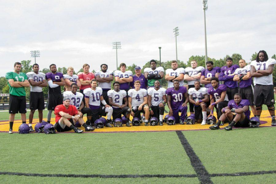 Members+of+the+2012+North+Alabama+football+team+pose+for+a+picture+before+practice+Aug.+20.+These+players+were+a+part+of+coach+Bobby+Wallace%E2%80%99s+first+team+since+returning+to+UNA+for+his+second+stint.