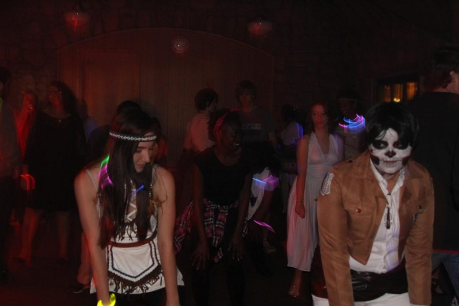 "Students dance the night away at Circle K International's 2014 Fright Night.  ""The event is in honor of UNICEF, which is the United Nations Children's Fund,"" said Circle K International Secretary Jaleesa Escott."