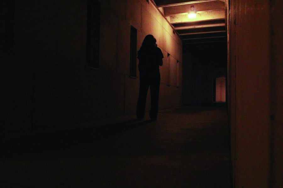 "A girl walks across campus alone. ""The Hunting Ground"" tackles the topic of campus assaults and their toll on victims.  ""The film exposes sexual violence as a prevalent problem on campuses of higher education across the country.  It looks at college campuses as territory for predators,"" said Coordinator for Women's Studies Emily Kelley."