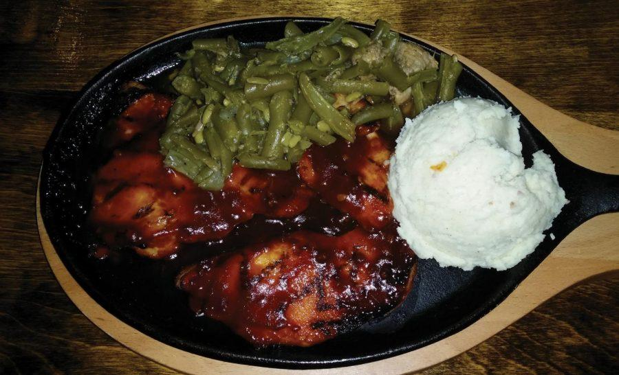 PoBoys Cajun Grill's Molasses Bourbon BBQ Chicken provides a satisfying meal at a reasonable price. This restaurant is on South Main Street in Tuscumbia.