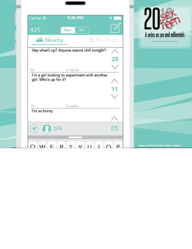 Examples of posts which students can find on the app Yik Yak.