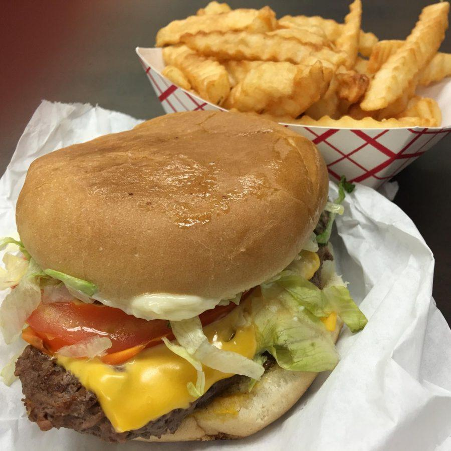 Staggs+Grocery%27s+%22delicious%22+burger.+Students+voted+for+it+as+their+favorite+burger+in+Florence.