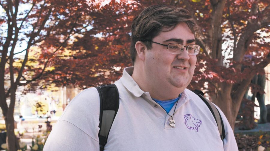 """Senior Taylor Davis started to volunteer at Colbert County High School after studying abroad. """"He always wants to jump in and make the world a better place,"""" said assistant professor of Education Jessica Mitchell."""