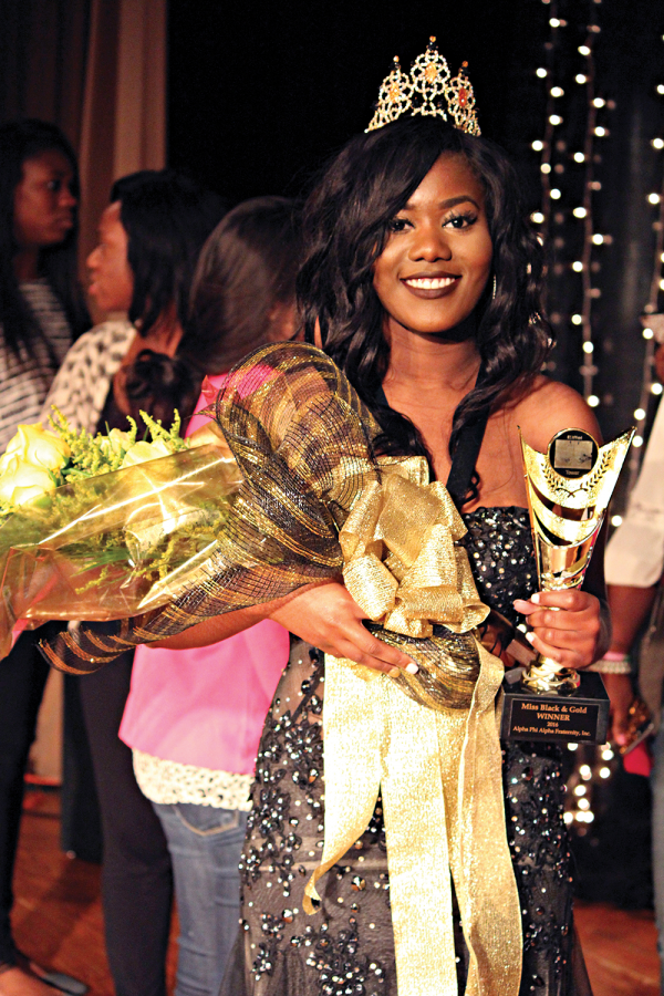 """Junior Kijana Mitchell is the 2016-17 'Miss Black and Gold.' """"I'm really looking forward to all of the things that I will be able to do this year,"""" she said."""