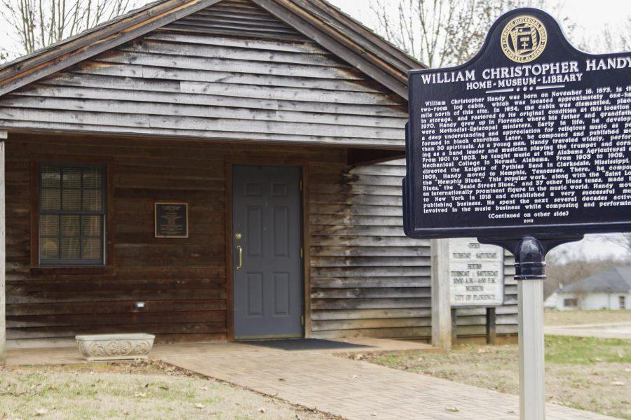 "The W.C. Handy Birthplace, Museum and Library is in Florence. The log cabin houses memorabilia from the ""Father of the Blues."""