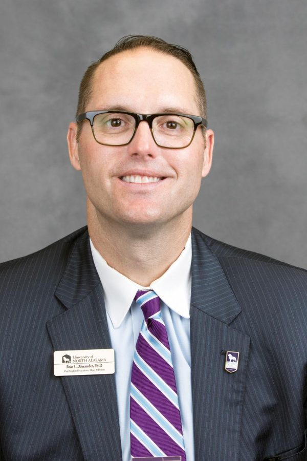 Ross Alexander began his new job as Vice President of Academic Affairs and Provost July 1. Alexander's top priorities at UNA are experiential education, study abroad, internationalization and online education.