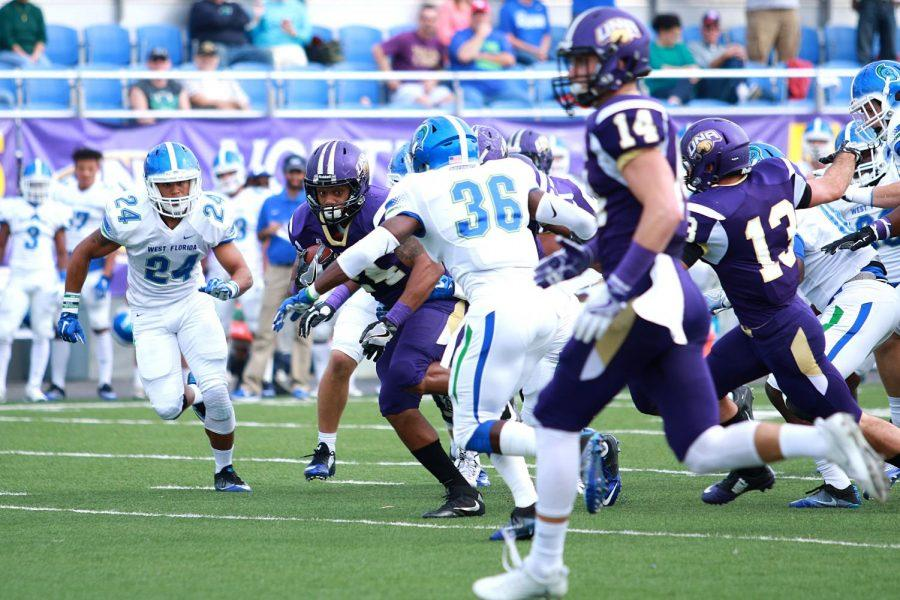 The North Alabama football team battles against West Florida Nov. 5, 2016. West Florida is one of the DII opponents UNA will face in the 2018 season.