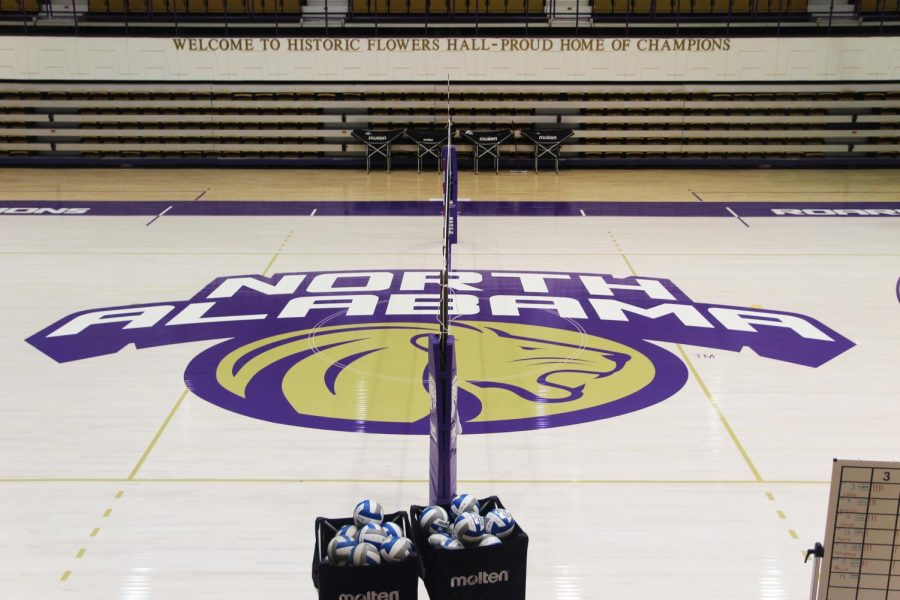 UNA replaced the gym floor of Flowers Hall. They expect the renovations to be completed this fall.