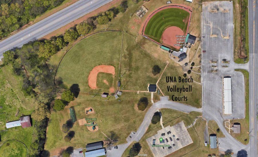 UNA%27s+new+baseball+field+will+be+located+off+of+Cox+Creek+Parkway+in+Florence%2C+Alabama.+The+field+will+be+a+part+of+a+%22spring+sports+complex%22+that+includes+the+softball+field+and+the+beach+volleyball+courts.%C2%A0