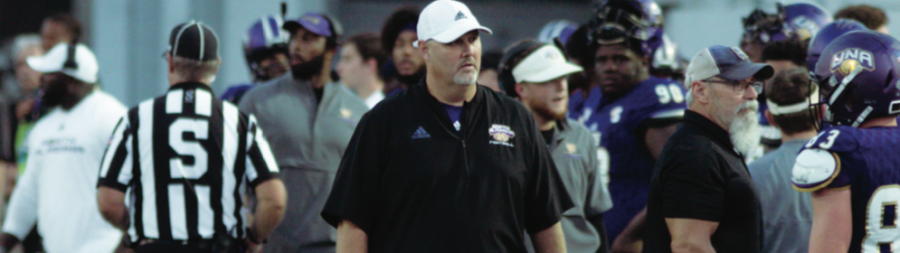 Head+coach+Chris+Willis+will+be+going+into+his+third+year+of+Division-I+football+this+next+fall.+An+almost+identical+schedule+to+his+2019+campaign%2C+Willis%E2%80%99+recruitment+looks+to+pay+off+and+contribute+to+a+winning+record+in+the+2020+season+in+Braly+Stadium.