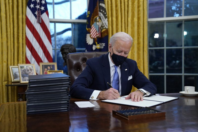 Biden's first days in office set prodctive tone