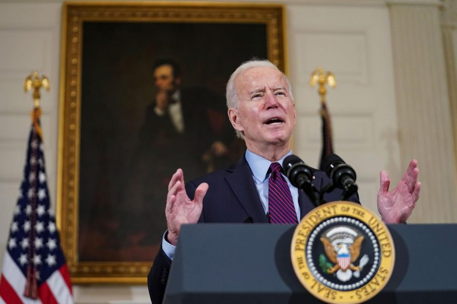While+speaking+on+the+relief+bill%2C+Biden+said+that+Americans+will+begin+getting+stimulus+checks+this+month%2C+as+soon+as+The+House+passes+the+COVID-19+relief+bill.++