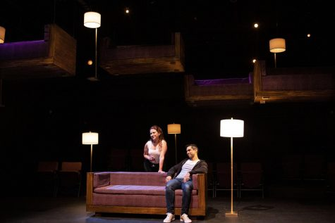"""Real-life couple. Keelie Sheridan and Jorge Luna, take on two-hander play, """"Constellations"""" by Nick Payne, at the George S. Lindsey Theatre."""