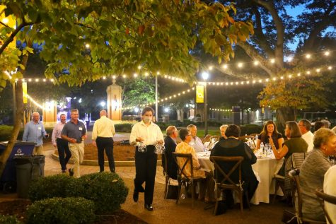 """""""Lions Under the Lights"""" is an event that was hosted by UNA's culinary students in honor of the late Jeff Eubanks. Columnist Lauren Odum worked behind the scenes."""